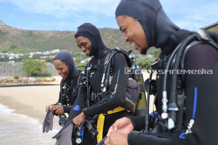 product images of young male scuba divers in scuba gear